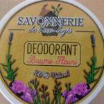 Déodorant solide baume fleuri